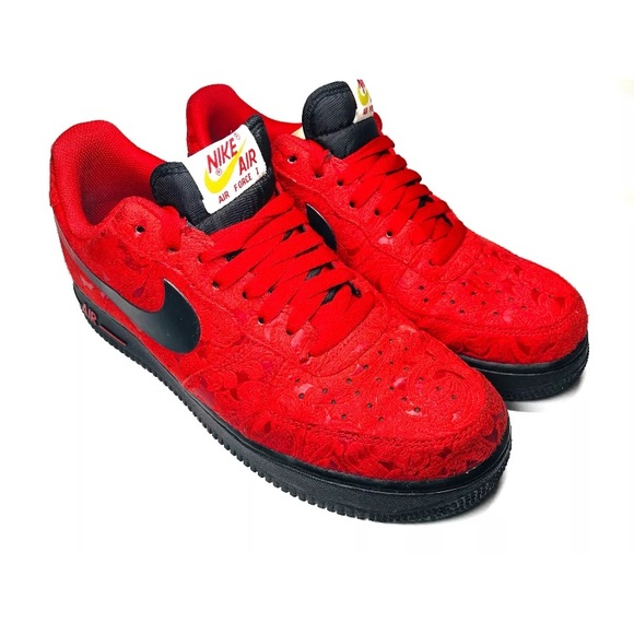 NIKE Air Force 1 Miami Heat Men\u0027s 9 Red sneakers NWT